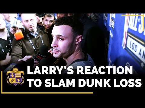 Video: 2018 NBA Slam Dunk Contest: Larry Nance Jr. REACTS To Getting Beat By Donovan Mitchell