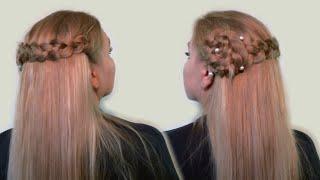 прически с заколками на длинные волосы фото