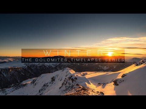 la neve delle dolomiti è fantastica - filmato da brividi!