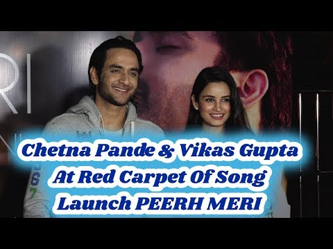 Chetna Pande & Vikas Gupta At Red Carpet Of Song Launch PEERH MERI