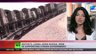 Beijing and Damascus have agreed that the Chinese military will provide humanitarian aid to Syria, a high-ranking People's Liberation Army officer said, addi...
