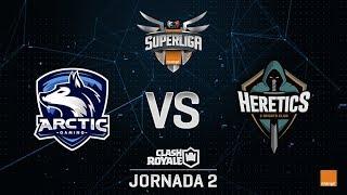 SUPERLIGA ORANGE - ARCTIC GAMING VS TEAM HERETICS - Jornada 2 - #SuperligaOrangeCR2