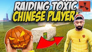 FROM ROCK to Raiding Toxic Chinese Player! - Rust Solo Survival Gameplay