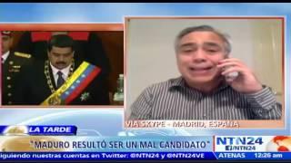 """Suscríbase a nuestro canal en YouTube: http://tinyurl.com/NTN24VENEZUELAJosé Vicente Carrasquero, analista político, dialogó con La Tarde de NTN24 sobre el artículo 'Lo que queda de Venezuela' escrito por  el periodista Joaquín Villalobos y sobre la Asamblea Nacional Constituyente propuesta por el presidente Nicolás Maduro para el 30 de julio.Sobre el escrito, el experto comentó que es una descripción muy acertada. Además, habló sobre la cita que abre el texto del periodista, """"el régimen de Maduro se está convirtiendo en el sepulturero de la 'Revolución Bolivariana'"""", y afirmó que """"la experiencia reciente demuestra que Maduro no fue la mejor escogencia pero creo que no tenían mucho de donde escoger""""También puede seguirnos en nuestras redes sociales:Twitter: https://twitter.com/ntn24veFacebook: https://www.facebook.com/NTN24veInstagram: https://instagram.com/ntn24ve"""