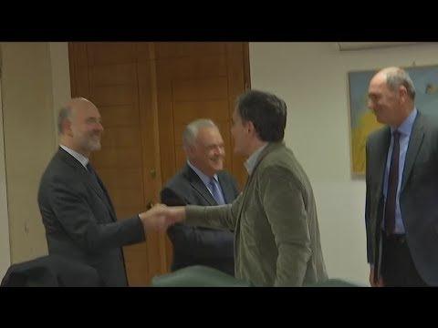 Συνάντηση Πιερ Μοσκοβισι με Δραγασάκη, Σταθάκη, Τσακαλώτο, Αχτσιόγλου