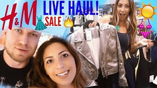 H&M LIVE HAUL / SHOPPING SOMMER 2017 / FASHION HAUL / SALE!