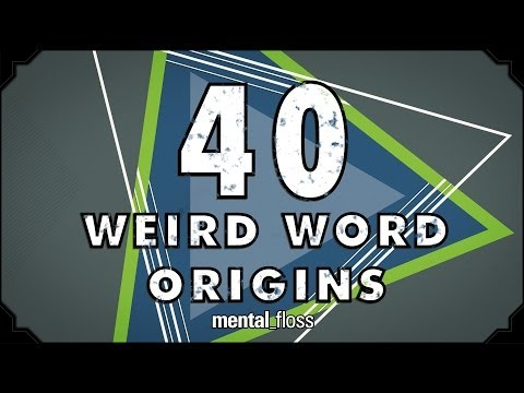 Weird Origins of 40 English Words