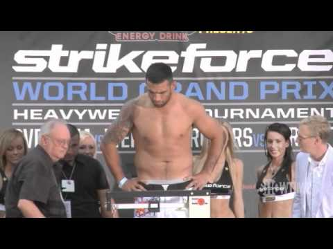 Strikeforce Weigh Ins Overeem Werdum Barnett Rogers Griggs Noons Masvidal