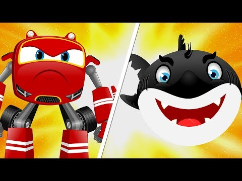 SuperCar Rikki Chases The Flying Shark to Rescue Kids | Christmas Cartoon Song