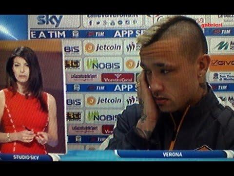 chievo - roma: nainggolan racconta lo scontro con mattiello