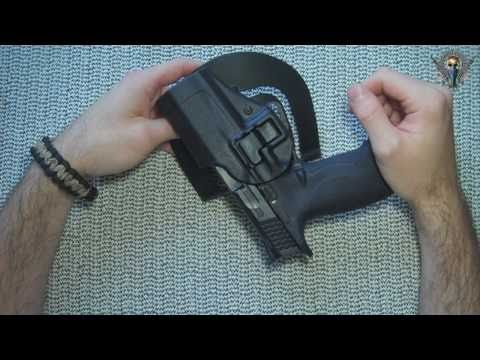 Blackhawk Serpa CQC level 2 holster for S&W M&P9 Pistol Review