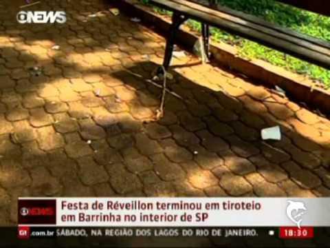 Festa de Réveillon termina em tiroteio em Barrinha (SP)