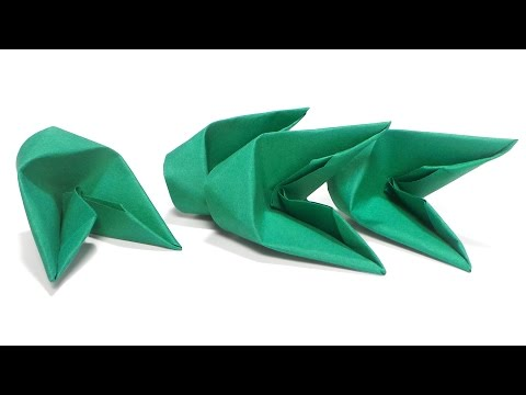 How to fold 3d origami pieces faster