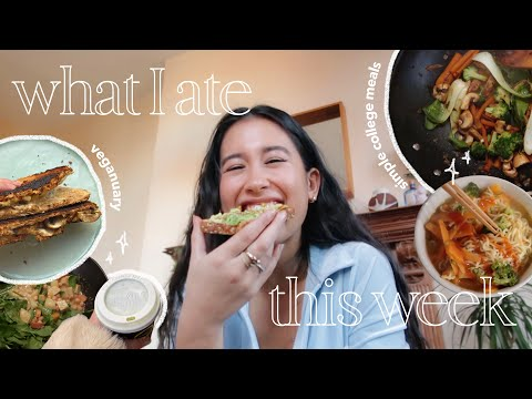 what I eat in a week at college! | veganuary, simple, healthy (ish) 🥑🥬