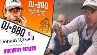 DJ BBQ Cooking up a storm of Steak Onglet at Donald Russell's HQ by DJ BBQ