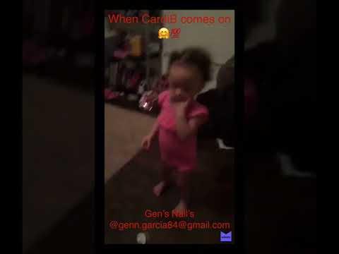 My grand babies be jamming 🤗💯 CardiB