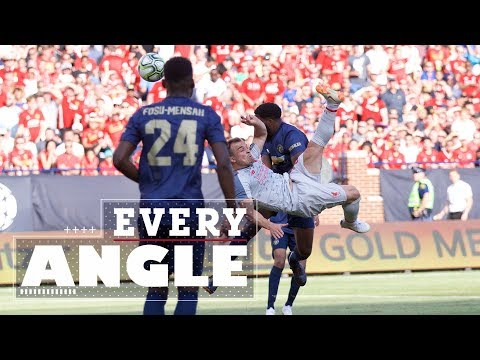 Every Angle: Shaqiri's Incredible Bicycle Kick | Pre-Season 18-19