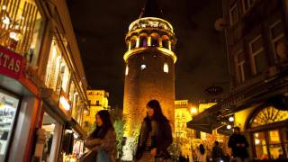 Beyoglu Turkey  City new picture : Galata Tower Time Lapse ( Beyoglu / Galata / Istanbul / Turkey ) (Video By Bülent Özalp)