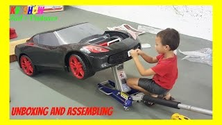 Unboxing And Assembling The Power Wheel Ride On Corvette 6 Volt