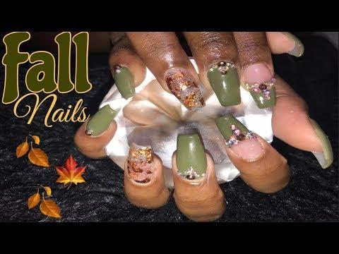 Fall Nails  Acrylic Nails Tutorial