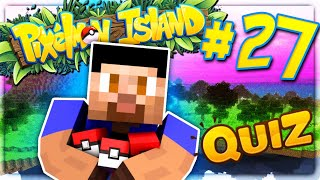 POKEMON QUIZ CHALLENGE! - PIXELMON ISLAND SMP #27 (Pokemon Go Minecraft Mod)