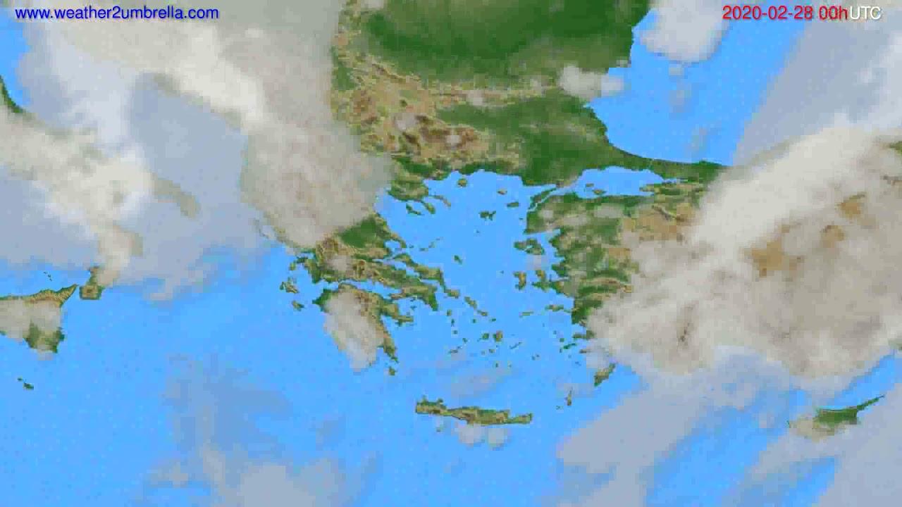 Cloud forecast Greece // modelrun: 00h UTC 2020-02-27