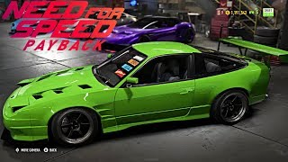Need For Speed Payback | 240SX S13 Widebody Drift Car, Full Customization, Bumper Delete, and More!