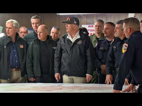 Raw Video: Pres. Trump Receives Briefing by Cal Fire Officials