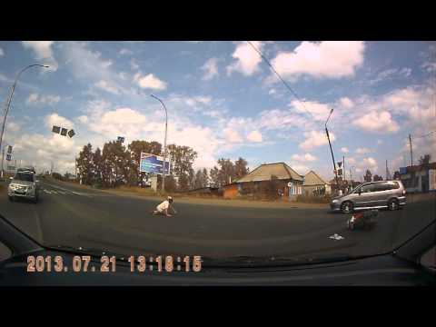 Dash cam captures motorcycle rider colliding with semi truck