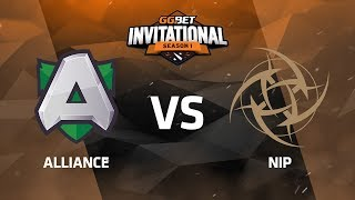 Alliance против NiP, Вторая карта, Play-Off, GG.Bet Dota 2 Invitational