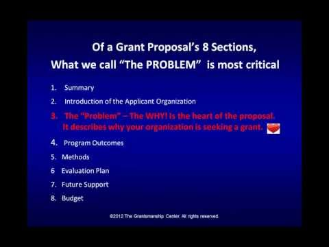 Read How to Get a Grant? What's Most Important? One of the Writing Grant Proposals Series