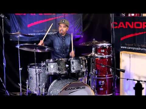 Justin Tyson plays CANOPUS YAIBA II Groove kit