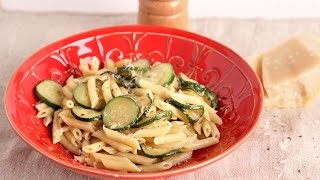 Pasta with Cream and Zucchini | Episode 1066 by Laura in the Kitchen
