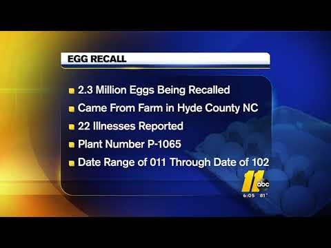 Huge egg recall affects NC, other states