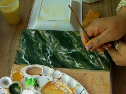 23 IMITACION DE MARMOL VERDE 1 - IMITATION GREEN MARBLE