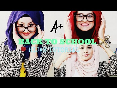 Quick and Simple Hijab Tutorial ♡ Back To School!