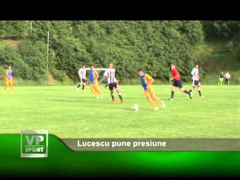 Lucescu pune presiune