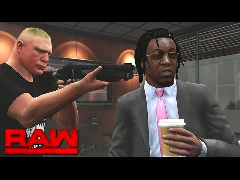WWE RAW 2K17 Story - Brock Lesnar Intimidates The GM 💥 | 02/06/17 (WWE GTA MODS)