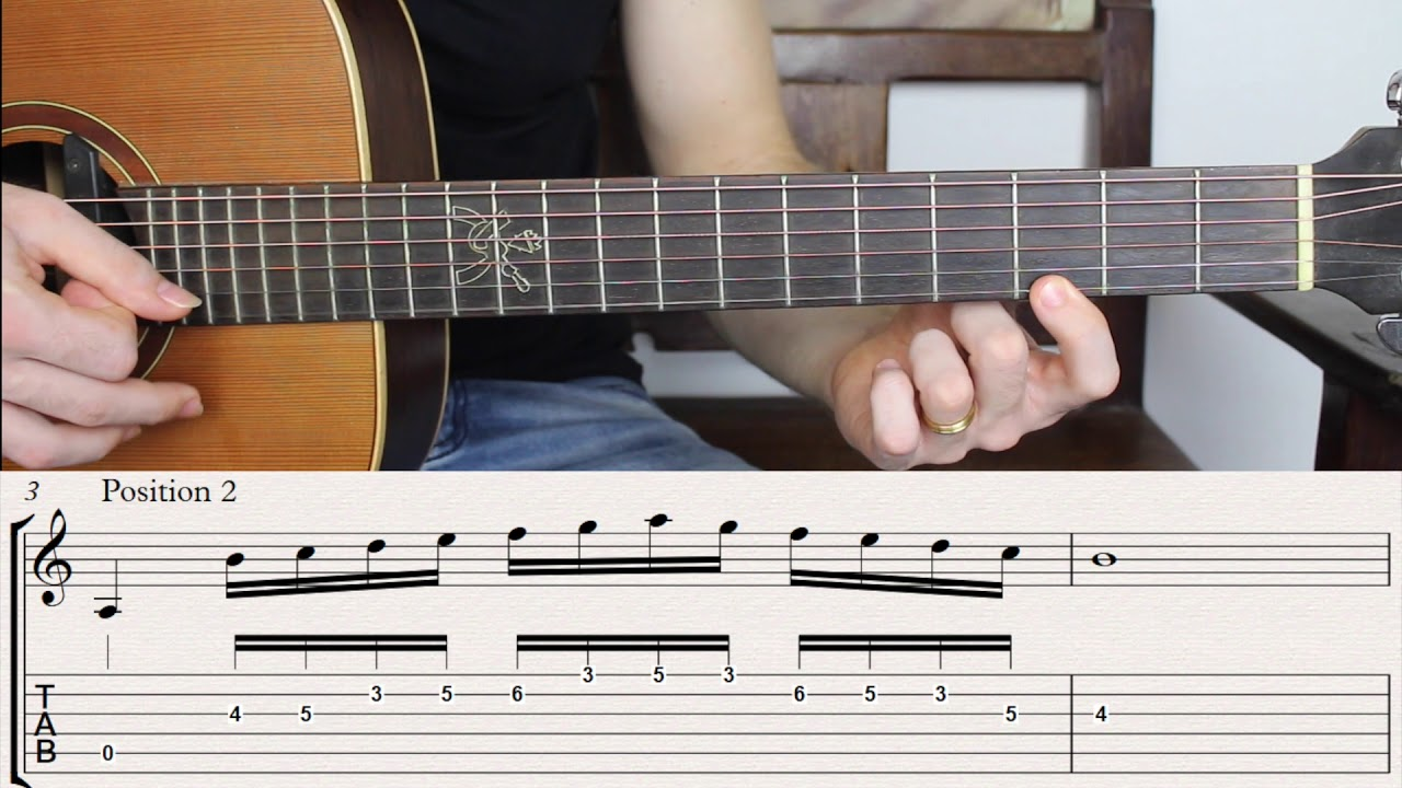 Scales that Sound Like a Beautiful Melody. Fingerstyle Guitar Lesson.