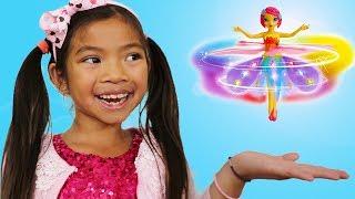 Emma Pretend Play w/ Flying Flutterbye Fairy Deluxe Light Up Doll Girl Toy