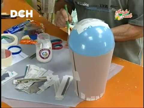 Jarrón realizado con técnica de cartapesta (1º parte)