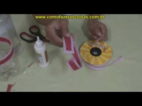Como fazer uma cesta de garrafa pet - parte 6