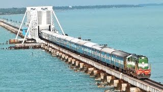 Rameswaram India  City pictures : India's MOST DANGEROUS Rail BRIDGE PAMBAN Rameswaram.