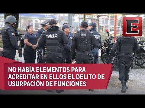 Liberan a 17 policías de San Martín Texmelucan, Puebla