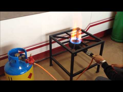 Single Burner High Pressure Gas Stove Demo