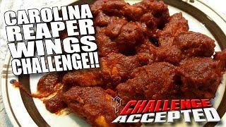 Video CAROLINA REAPER WINGS CHALLENGE │ WORLD'S HOTTEST PEPPER!! MP3, 3GP, MP4, WEBM, AVI, FLV September 2018