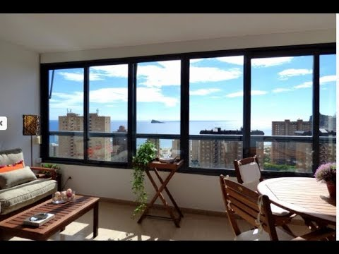The best price for a luxury apartment in Spain! Apartment overlooking the sea, in the area of Poniente Beach, Benidorm!