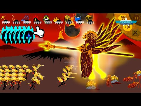 VS GIANT Boss LAVA SPEARTON Missions 14 | Best Strategy Stickman War Legacy Huge Update MOD Army