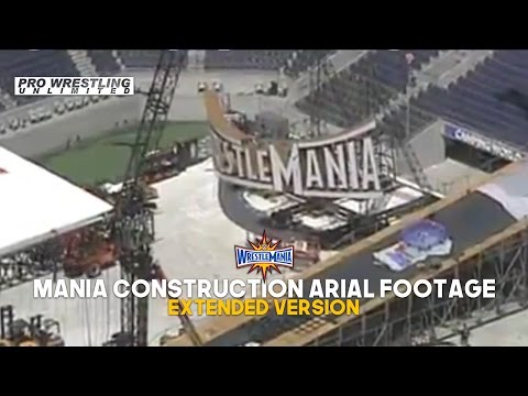 Leaked Aerial Footage Of The WrestleMania 33 Stage Construction Taking Place Extended Version (VIDEO (видео)