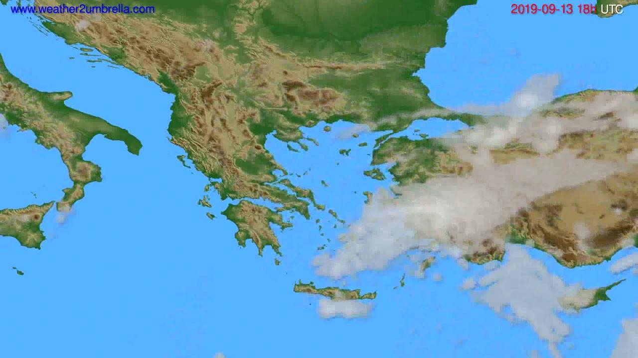 Cloud forecast Greece // modelrun: 12h UTC 2019-09-11